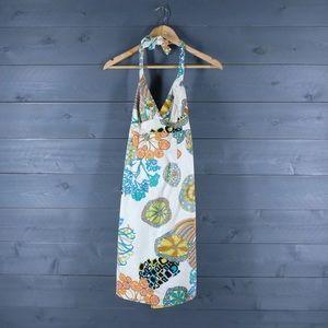 TRINA TURK Colorful Halter Dress Size 6